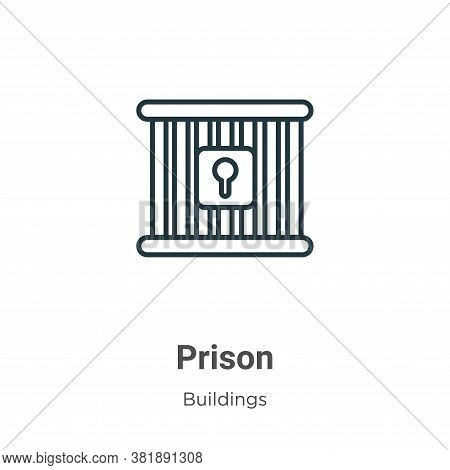 Prison icon isolated on white background from buildings collection. Prison icon trendy and modern Pr
