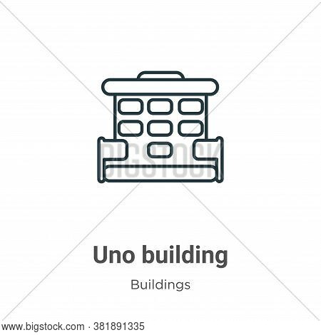 Uno building icon isolated on white background from buildings collection. Uno building icon trendy a