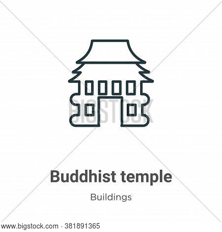 Buddhist temple icon isolated on white background from buildings collection. Buddhist temple icon tr