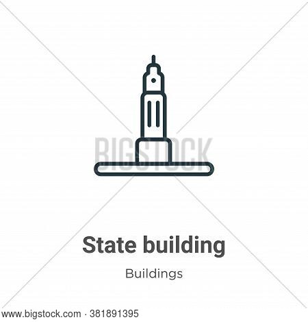 State building icon isolated on white background from buildings collection. State building icon tren
