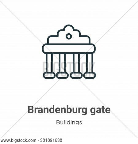 Brandenburg gate icon isolated on white background from buildings collection. Brandenburg gate icon