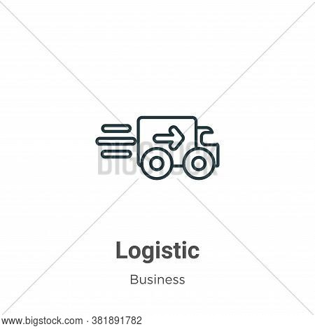 Logistic icon isolated on white background from business collection. Logistic icon trendy and modern