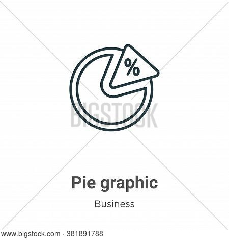 Pie graphic icon isolated on white background from business collection. Pie graphic icon trendy and