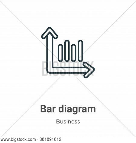 Bar diagram icon isolated on white background from business collection. Bar diagram icon trendy and
