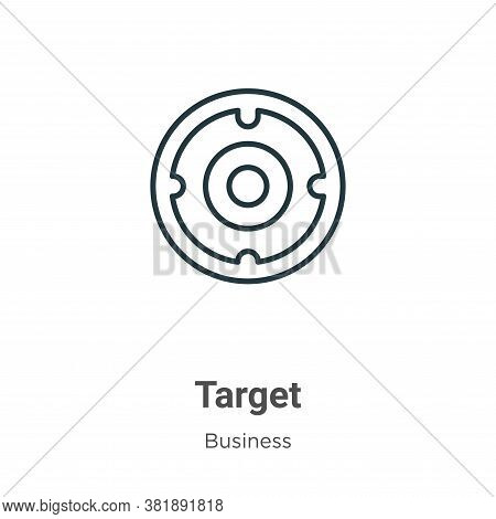 Target symbol icon isolated on white background from business collection. Target symbol icon trendy
