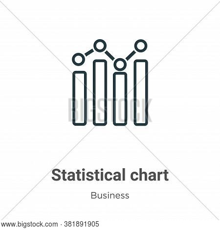 Statistical chart icon isolated on white background from business collection. Statistical chart icon