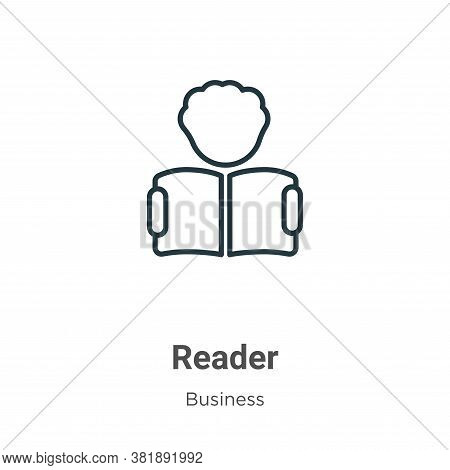 Reader Icon From Business Collection Isolated On White Background.