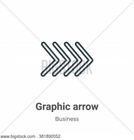 Graphic arrow icon isolated on white background from business collection. Graphic arrow icon trendy