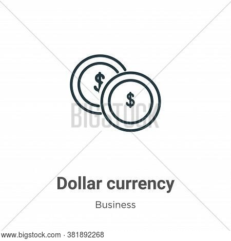 Dollar currency icon isolated on white background from business collection. Dollar currency icon tre