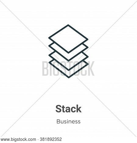 Stack icon isolated on white background from business collection. Stack icon trendy and modern Stack