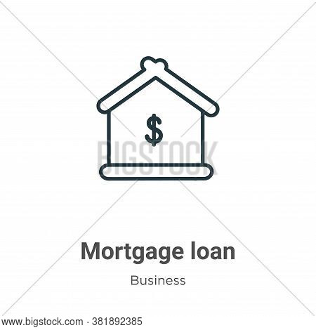 Mortgage loan icon isolated on white background from business collection. Mortgage loan icon trendy
