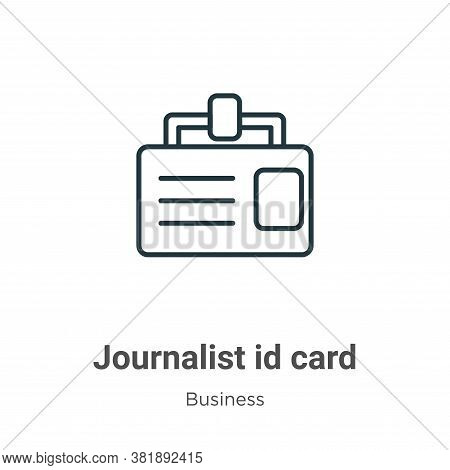 Journalist Id Card Icon From Business Collection Isolated On White Background.