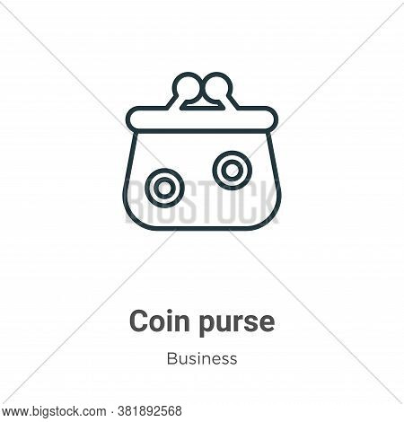 Coin purse icon isolated on white background from business collection. Coin purse icon trendy and mo