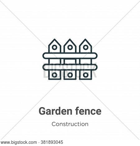 Garden fence icon isolated on white background from construction collection. Garden fence icon trend