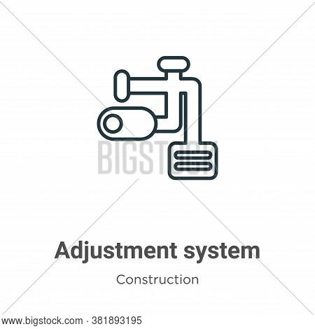 Adjustment system icon isolated on white background from construction collection. Adjustment system