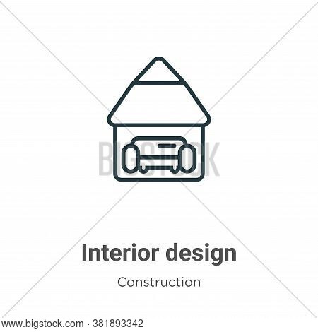 Interior design icon isolated on white background from construction collection. Interior design icon