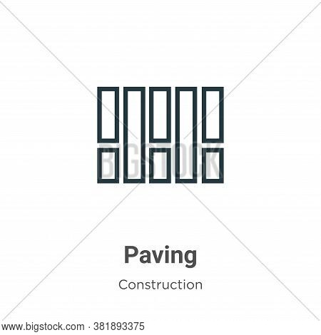 Paving icon isolated on white background from construction collection. Paving icon trendy and modern