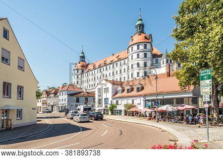 Neuburg An Der Donau,germany - August 08,2020 - In The Streets Of Neuburg An Der Donau. Neuburg Is A
