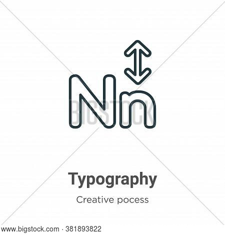 Typography icon isolated on white background from creative pocess collection. Typography icon trendy