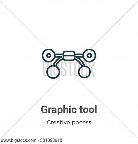 Graphic tool icon isolated on white background from creative pocess collection. Graphic tool icon tr