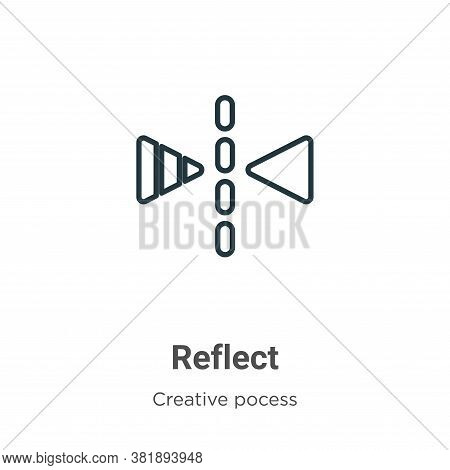 Reflect icon isolated on white background from creative pocess collection. Reflect icon trendy and m