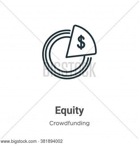 Equity icon isolated on white background from crowdfunding collection. Equity icon trendy and modern