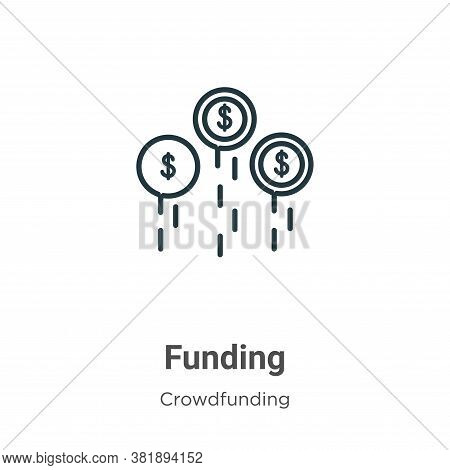 Funding icon isolated on white background from crowdfunding collection. Funding icon trendy and mode