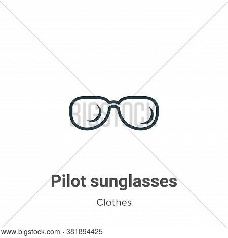 Pilot sunglasses icon isolated on white background from clothes collection. Pilot sunglasses icon tr