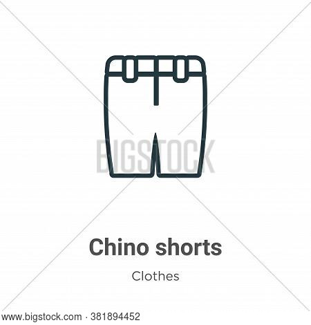 Chino shorts icon isolated on white background from clothes collection. Chino shorts icon trendy and