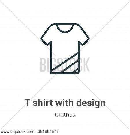 T shirt with design icon isolated on white background from clothes collection. T shirt with design i