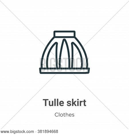 Tulle skirt icon isolated on white background from clothes collection. Tulle skirt icon trendy and m