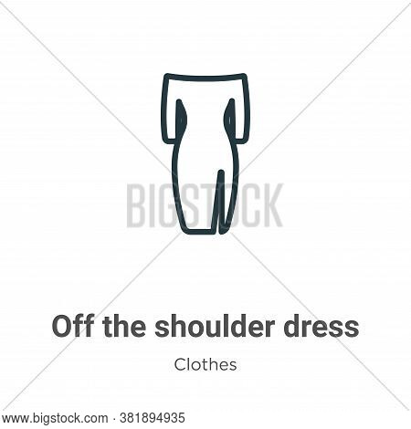 Off the shoulder dress icon isolated on white background from clothes collection. Off the shoulder d