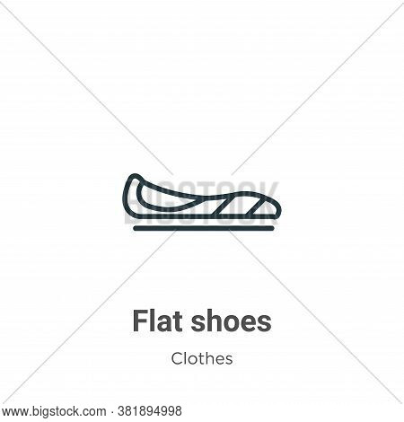 Flat shoes icon isolated on white background from clothes collection. Flat shoes icon trendy and mod