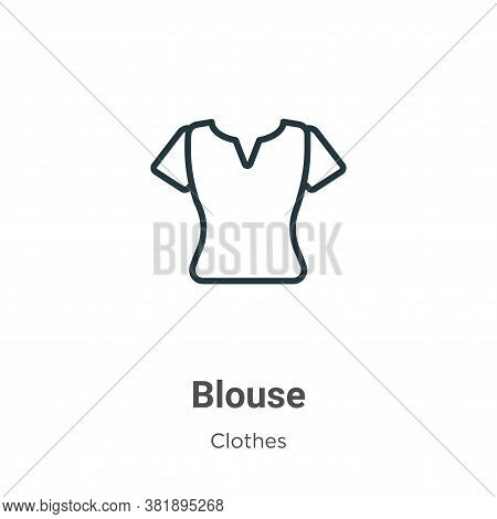 Blouse icon isolated on white background from clothes collection. Blouse icon trendy and modern Blou