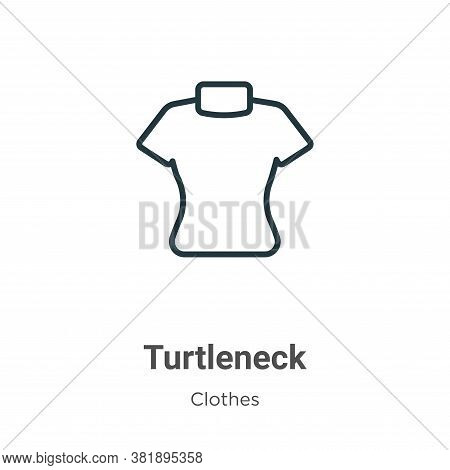 Turtleneck icon isolated on white background from clothes collection. Turtleneck icon trendy and mod