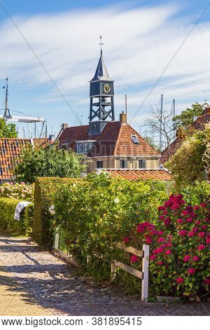 Townscape Of The Picturesque Fishing Village Hindeloopen In Friesland In The Netherlands