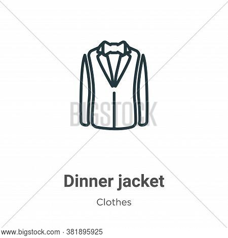 Dinner jacket icon isolated on white background from clothes collection. Dinner jacket icon trendy a