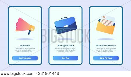 Hiring Promotion Job Opportunity Portfolio Document For Mobile Apps Template Banner Page Ui With Thr