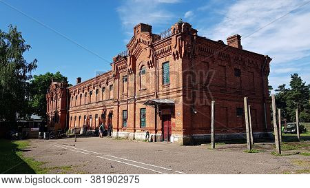 The Old Building Of The Former Prison In The Latvian City Of Liepaja In July 2020
