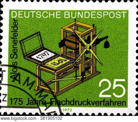 02 11 2020 Divnoe Stavropol Territory Russia The German Postage Stamp 1972 The 175th Anniversary Of