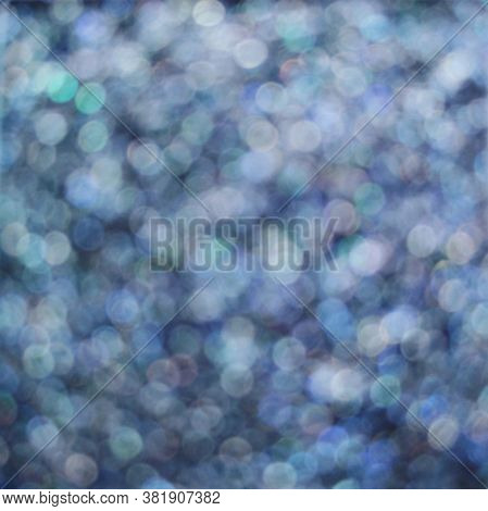 Navy Blue Eye Shadow Sparkle Metallic Shimmer Glitter Cosmetic Make-up Macro Photo Blurred Backgroun