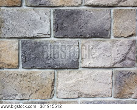 Abstract Multicolour Brick Wall Texture For The Background. Textured Background Illustration. Beauti