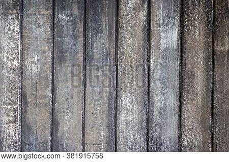 Dark Background Of Wooden Planks. Texture Of Dark Wooden Boards. Dark Gray Surface Of Wooden Boards,
