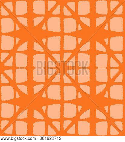 Japanese Tie Dye Seamless Pattern. Boho Arc Curve Texture Geometric Bohemian Asian Tie Dye Print. El