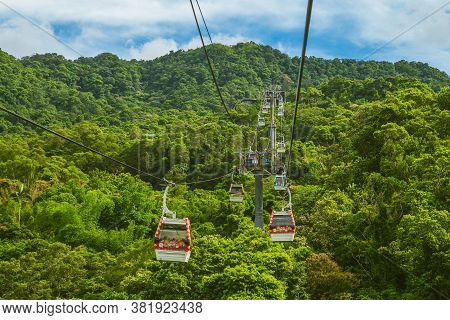 August 18, 2020: Maokong Gondola, A Gondola Lift Transportation System In Taipei, Taiwan. It Was Ope