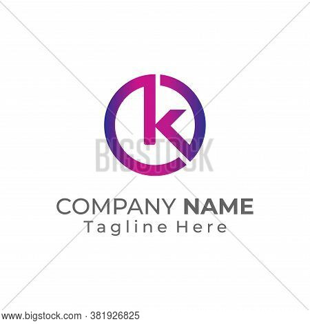 K Logo, K Logo Design, Initial K Logo, Circle K Logo, Real Estate Logo, Letter K Logo, Creat Save Do