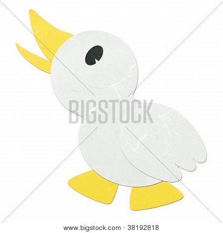 Rice Paper Cut Cute Cartoon Litte Duck
