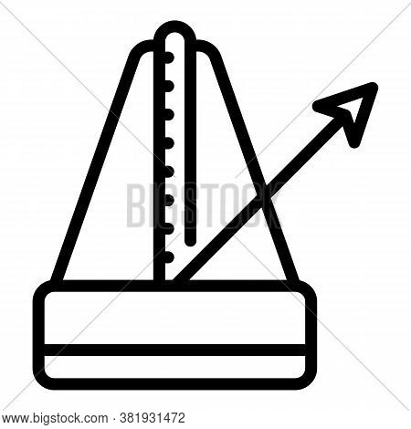 Metronome Icon. Outline Metronome Vector Icon For Web Design Isolated On White Background