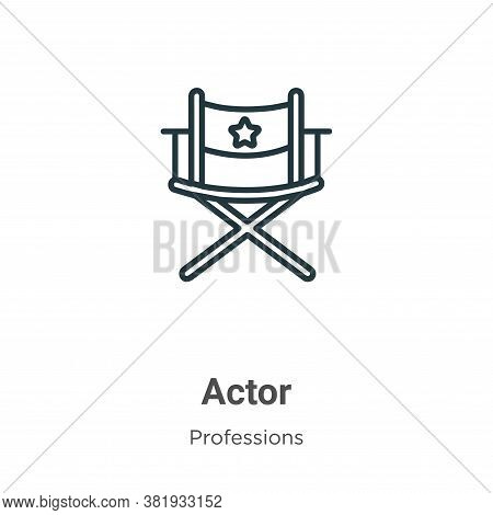 Actor icon isolated on white background from professions collection. Actor icon trendy and modern Ac