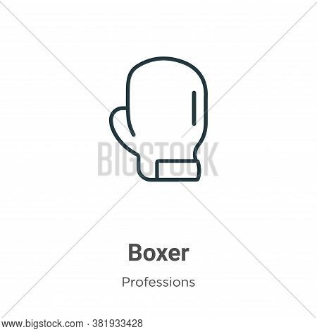 Boxer icon isolated on white background from professions collection. Boxer icon trendy and modern Bo